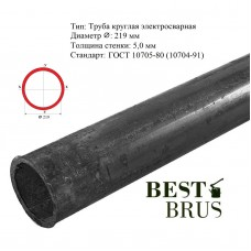 Труба электросварная 219